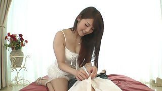 Yummy Asian babe Rei Mizuna is fucked and jizzed in hot pov clip