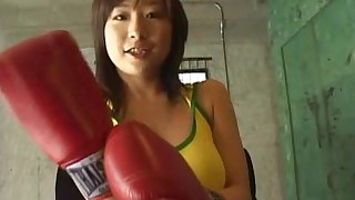 Amazing Asian girl gets talked into pleasing a naughty guy