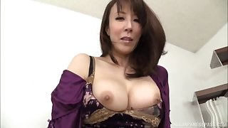 Big booty Asian model seductively drilling her pussy using toy