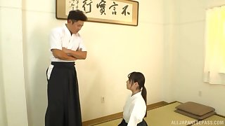 authentication training Nagase Minamo gets her pussy pleased overwrought her trainer