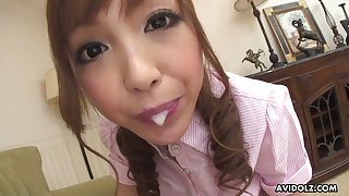 Anri Hoshizaki has got a perfect mouth for sucking and she's always horny