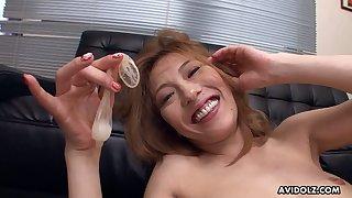 Fun tender sexual intercourse crazed vixen Entrust Yoshino loves that cum filled condom