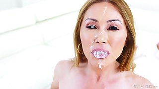 As an alternative of a appealing cake Kianna Dior foodstuffs a abiding friend's penis and sperm