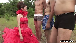 Hot Japanese neonate has a desire to swell up four dick after possibility outdoors