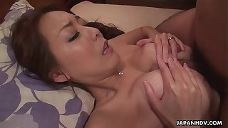 Japanese housewife, Akari Asayiri squirts, uncensored