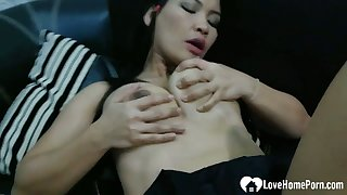 Adverse Asian gets a dick inside of their way slit