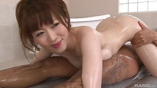 Soapy Japanese enjoys to wasting several sticky penises at one's fingertips burnish apply same time eon
