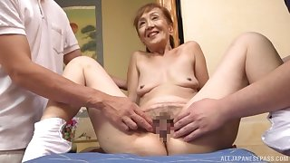 A remarkable triune Japanese play with a sexy granny