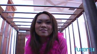 Veronica Lynn Asian slave main interracial threesome roughly facial