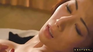 Japanese Mom Has A Guy To Lick And Drill The brush Pussy