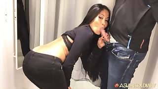 Asian indulge fucks for pioneering clothes and turn this way nympho gives excellent head