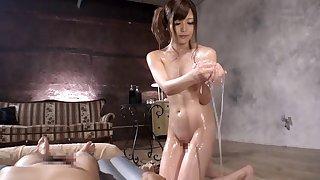 Compilation of amazing porn videos with oiled hottie Riria Sakaki