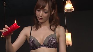 Nasty slut Kaede Fuyutsuki loves sucking his dick coupled with licking his ass