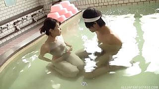 Nice copulation video between sexy Rina Yoshiguchi and a lucky guy