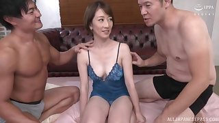 Gentle MMF triune with reference to spit-roast for mature Okamura Mayuko