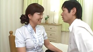Japanese mature pleases their way nephew with good sex