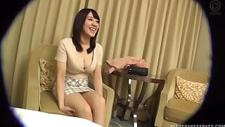 Passionate having it away ends with cum in brashness be required of an adorable Asian chick